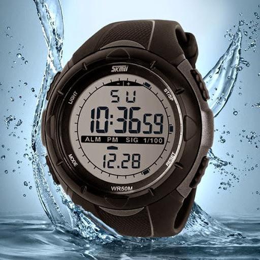 Men Sports Watches SKMEI Brand LED Digital Watch 5ATM W